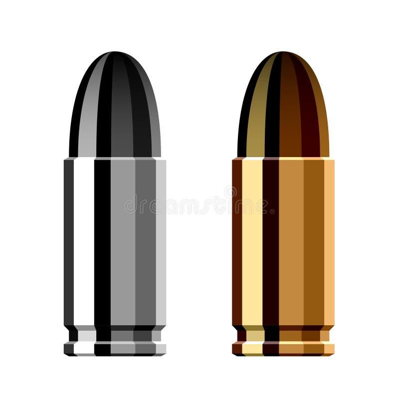 武器枪子弹弹药筒 库存例证