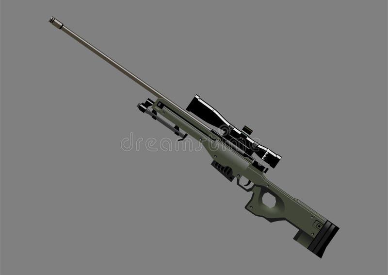 武器狙击手awm 向量例证