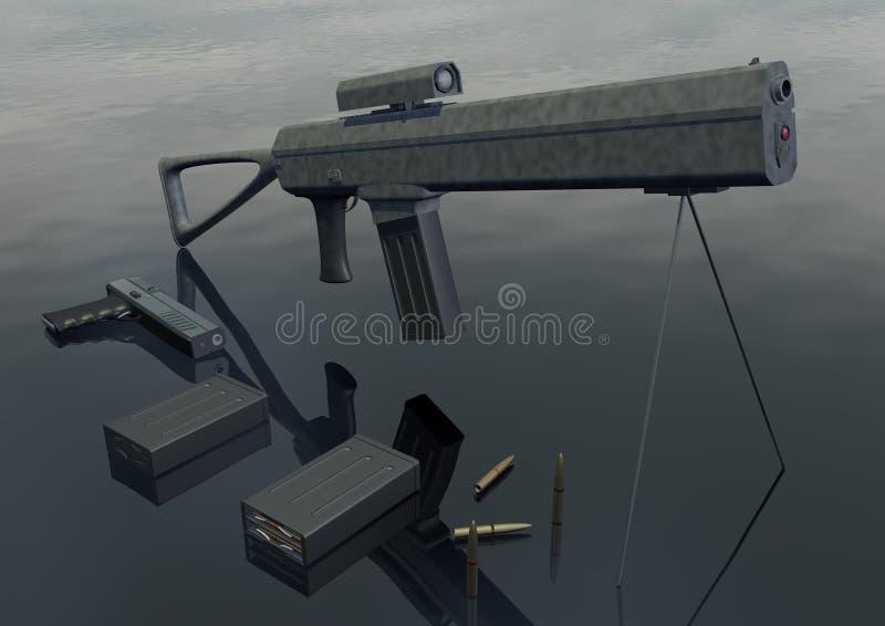 武器集合 库存图片
