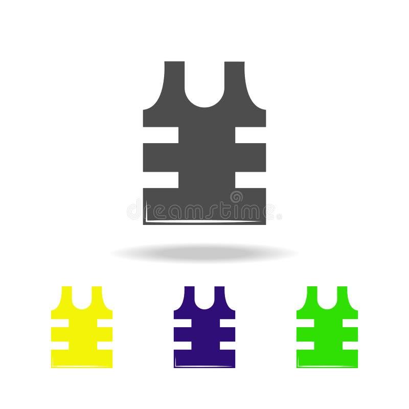 武器,防弹色的象 军事例证的元素 标志和标志可以为网,商标,流动应用程序,UI使用, 库存例证