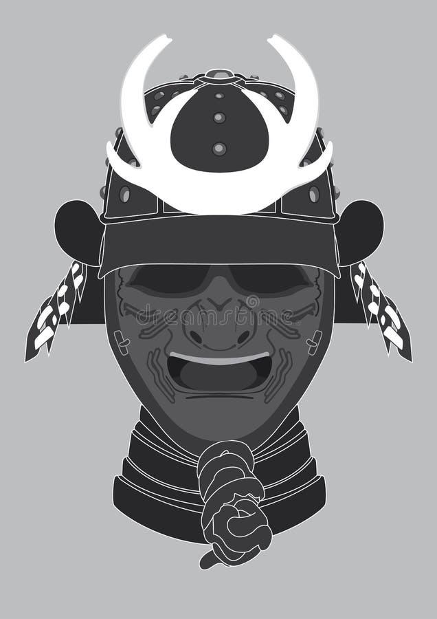 武士战士面具 皇族释放例证