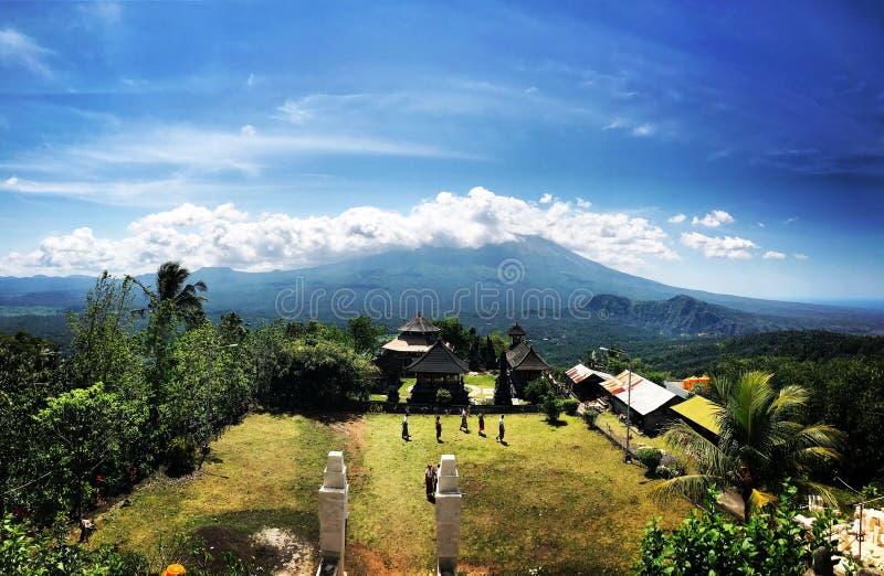 武尔卡诺岛阿贡巴厘岛 图库摄影