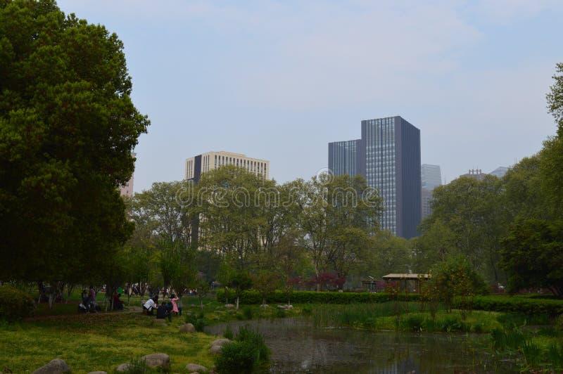 武汉解放公园 免版税库存图片