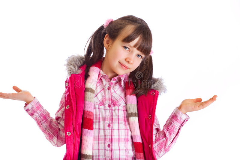 武装愉快的女孩开张 库存图片