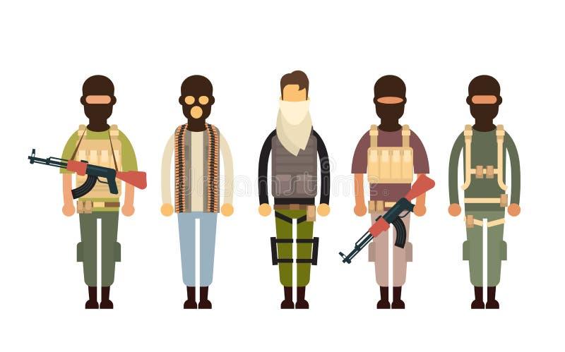 武装的恐怖分子恐怖主义概念 皇族释放例证
