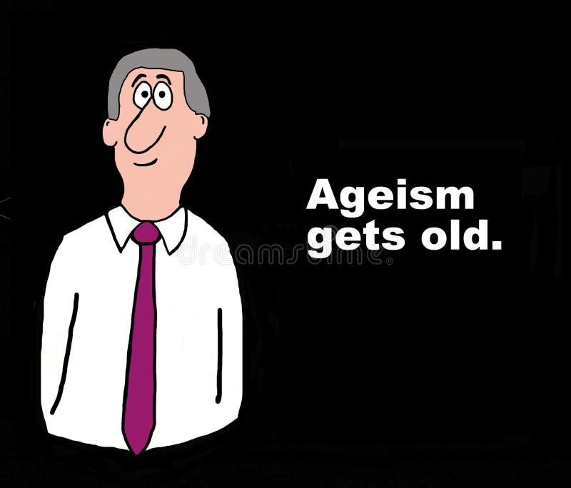 歧视老年人变老 向量例证