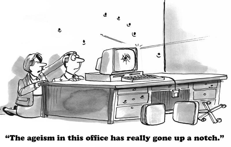 歧视老年人在工作 库存图片