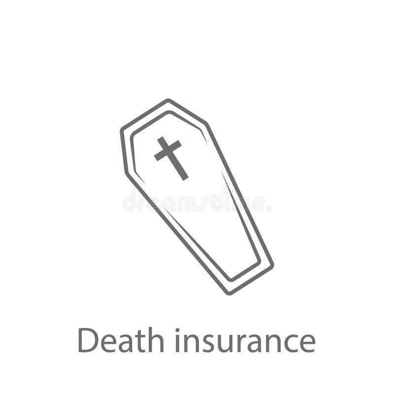 死亡保险象 简单的元素例证 死亡保险从保险汇集集合的标志设计 能为我们使用 向量例证