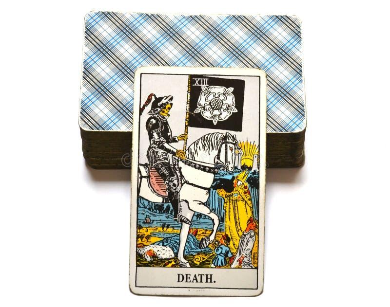 死亡占卜用的纸牌末端改变变革 皇族释放例证