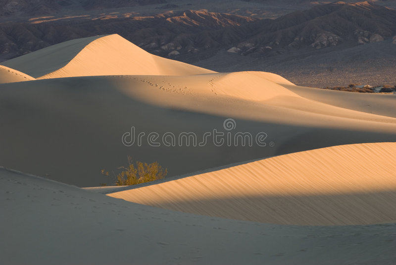 死亡沙丘铺沙日出谷 免版税库存图片
