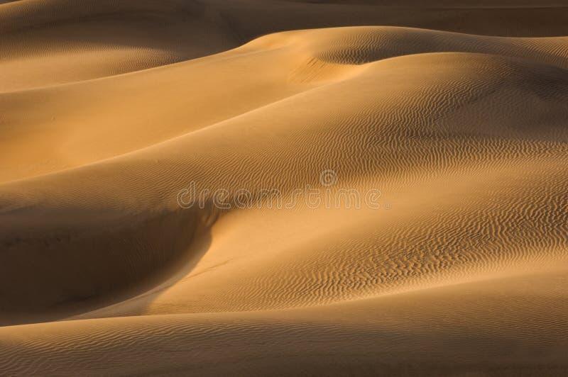死亡沙丘铺沙谷 免版税图库摄影