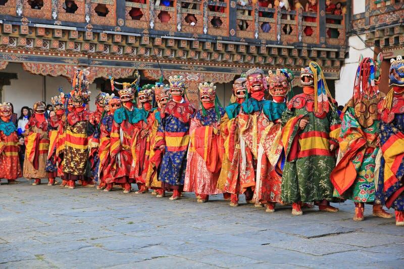 死亡节日的独特的阁下,不丹 库存图片