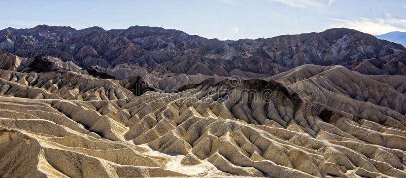 死亡谷国家公园- Zabriskie点 图库摄影