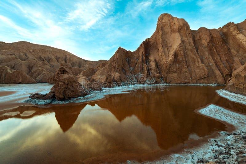 死亡谷的看法盐山脉的 库存照片