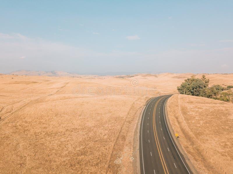 死亡谷的鸟瞰图在美国 图库摄影