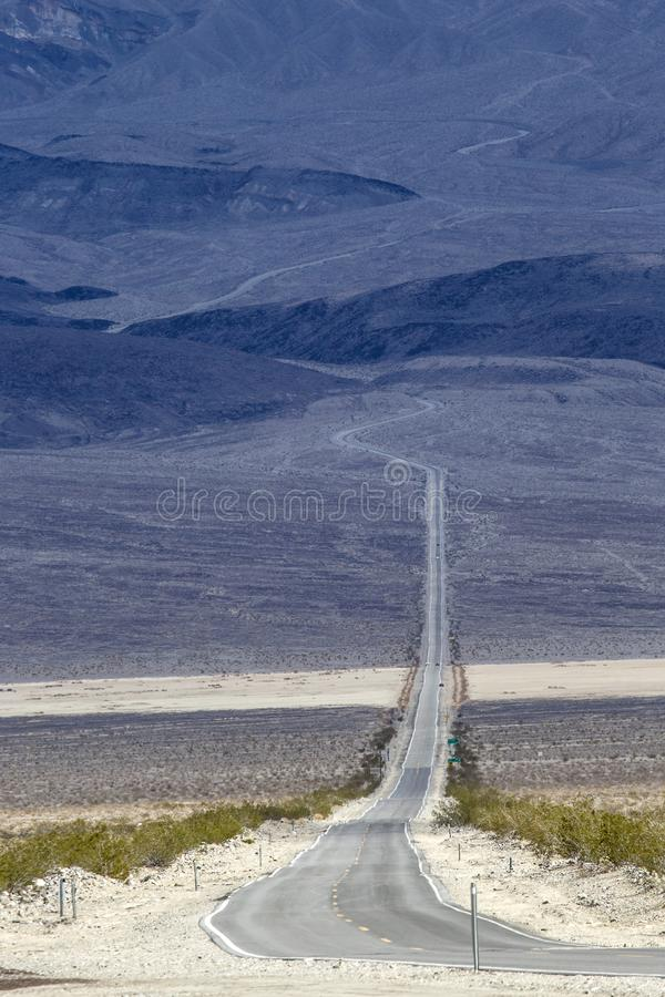 死亡谷的Panamint谷 库存照片