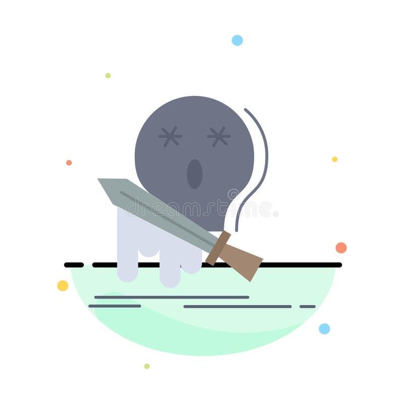 死亡,frag,比赛,杀害,剑平的颜色象传染媒介 向量例证