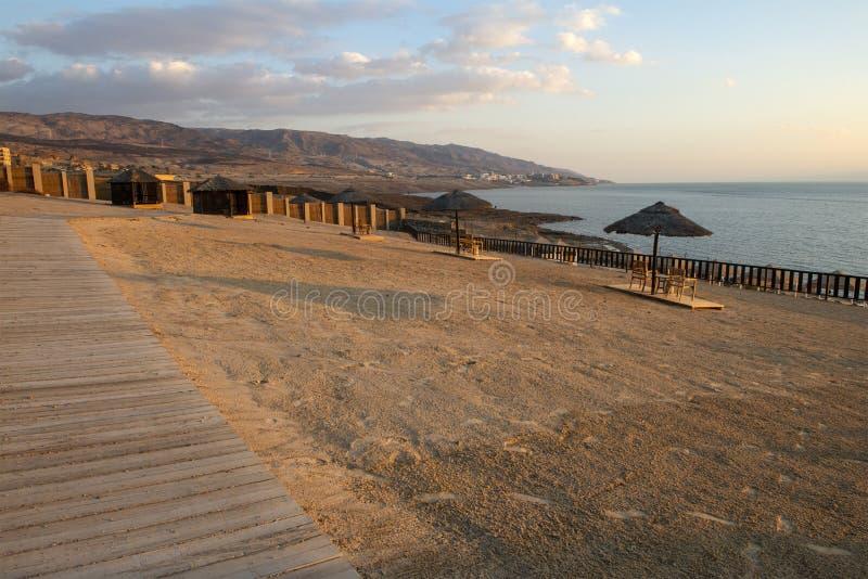 死海海滩胜地,旅行,约旦,中东 免版税库存照片