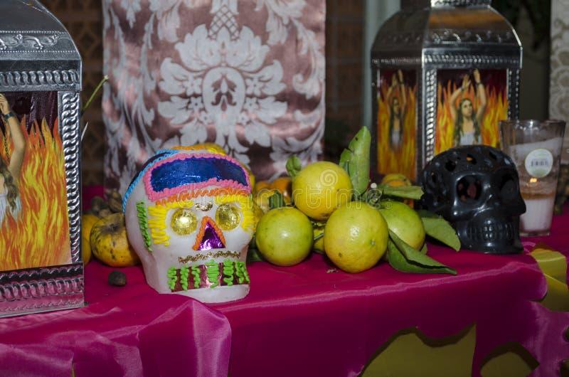 死的提供的法坛的墨西哥天 库存图片