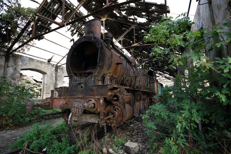 死的火车机车的黎波里,黎巴嫩 免版税库存照片