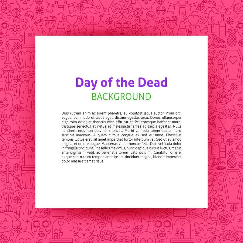 死的纸模板的天 皇族释放例证