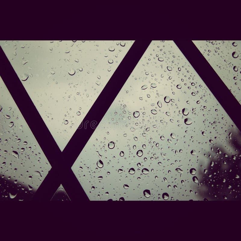 残余雨 库存照片