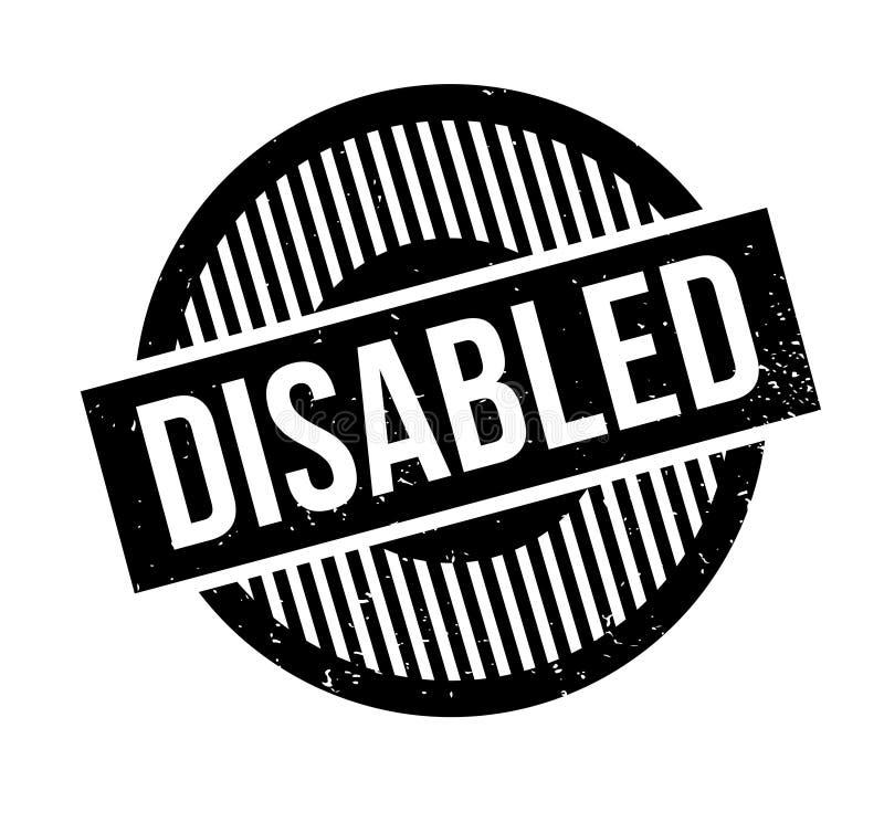 残疾不加考虑表赞同的人 库存例证