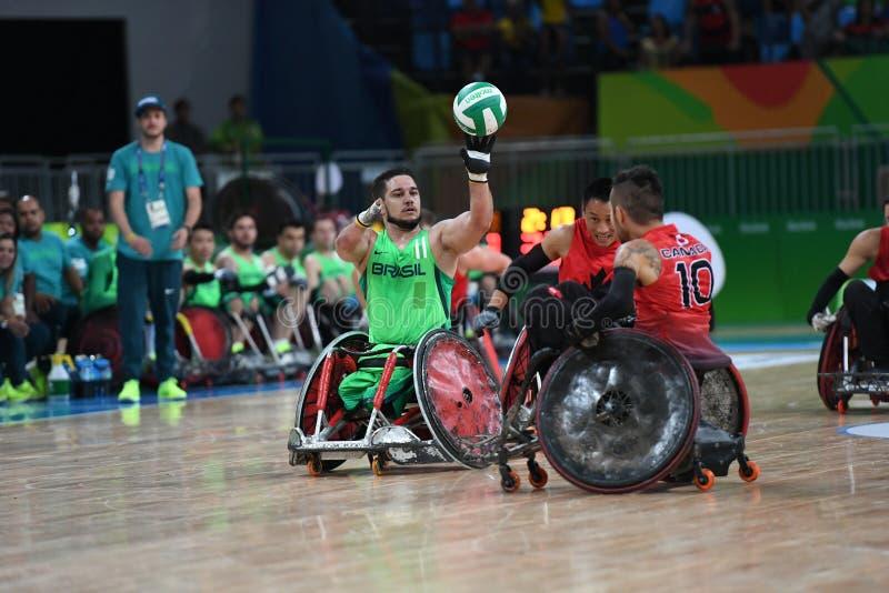 残疾人奥林匹克运动会-橄榄球 免版税库存照片