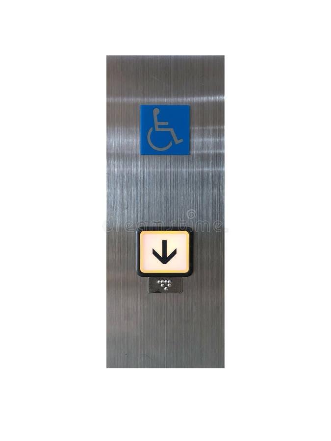 残疾人的电梯标志 免版税库存图片