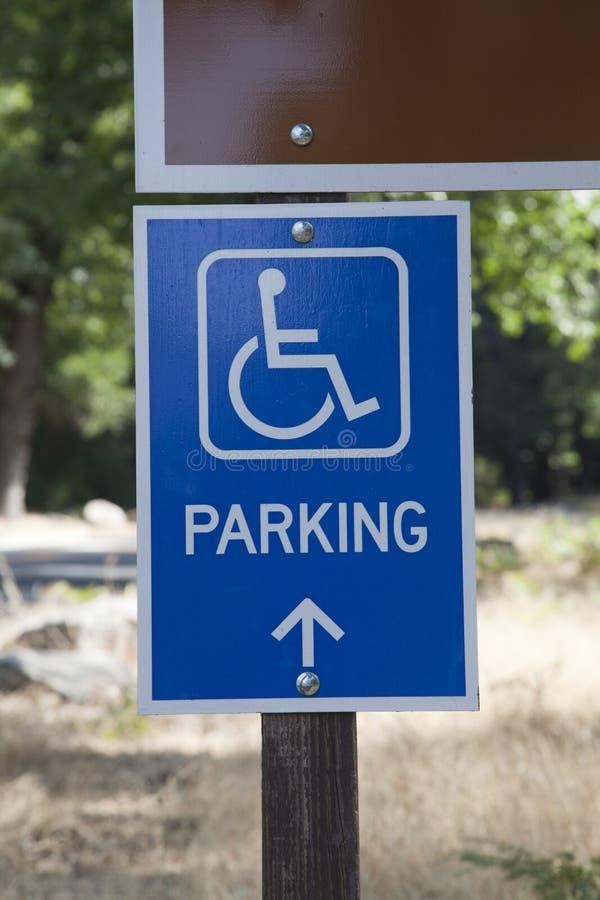 残疾停车符号 图库摄影