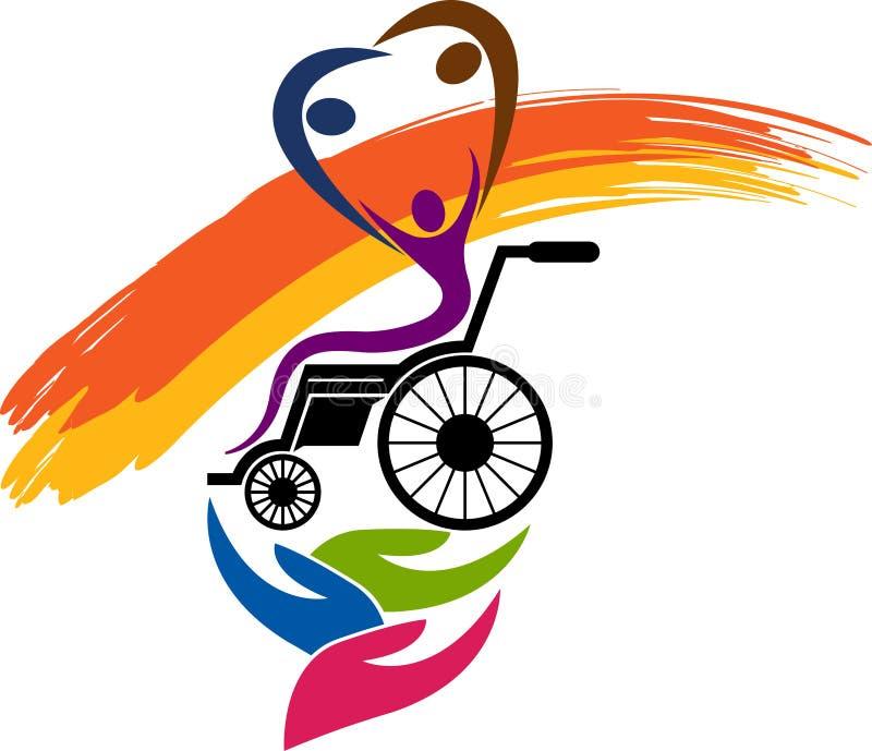 残疾关心商标 向量例证