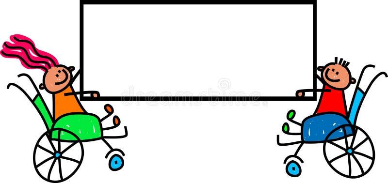 残疾孩子标志 皇族释放例证