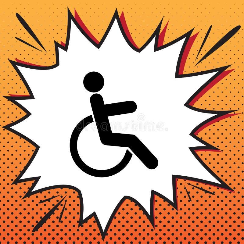 残疾标志例证 向量 漫画在流行音乐艺术的样式象 库存例证