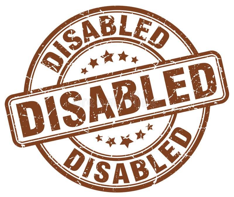 残疾棕色邮票 库存例证
