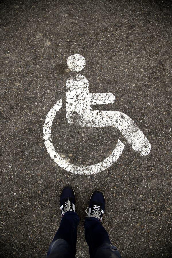 残疾的停车处 库存照片