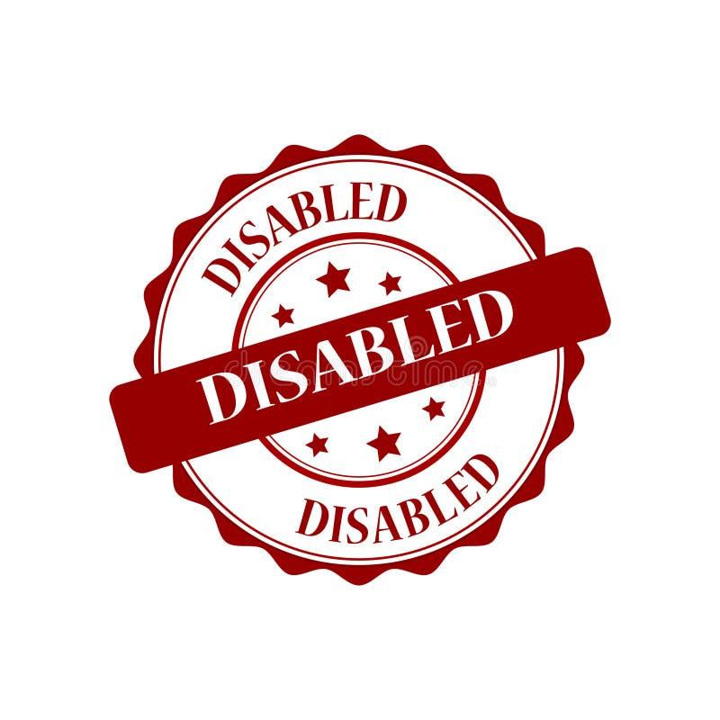 残疾盖印例证 向量例证