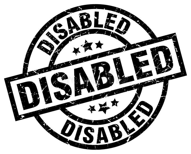 残疾盖印 库存例证