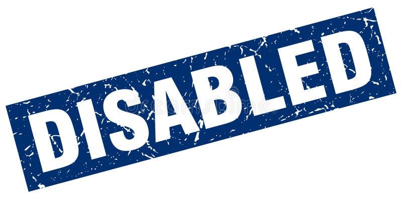 残疾盖印 皇族释放例证