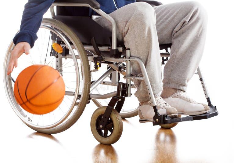残疾蓝球运动员 库存图片