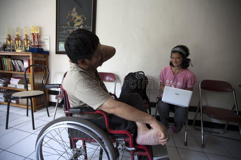 残疾论述青年时期 免版税库存照片