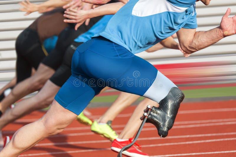 残疾运动员种族 图库摄影
