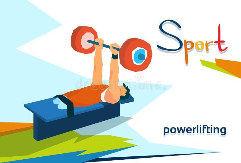 残疾运动员Powerlifting体育竞赛 库存例证