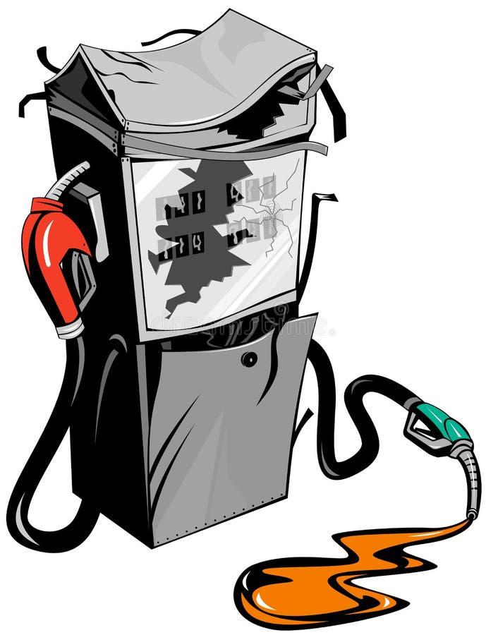 残破的加油泵 皇族释放例证