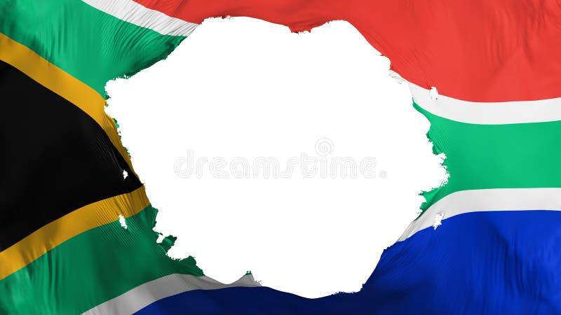 残破的南非旗子 库存例证