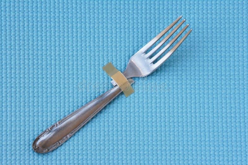 残破的叉子 库存照片