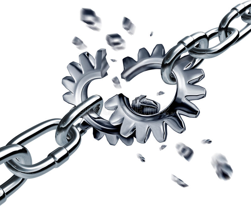 残破的合伙企业协议 库存例证