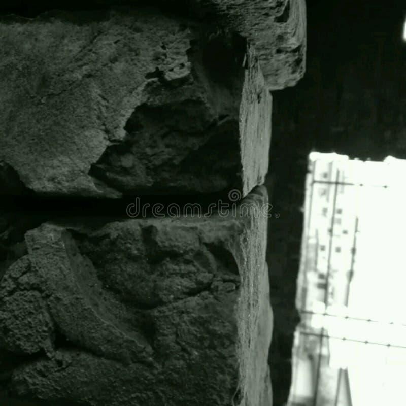残破的墙壁 免版税库存照片