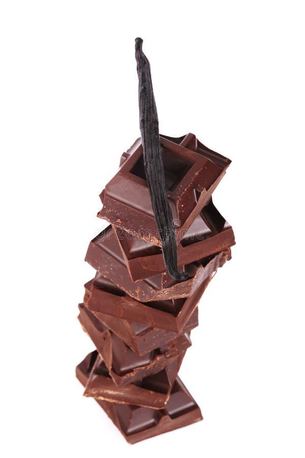 残破的巧克力 库存照片