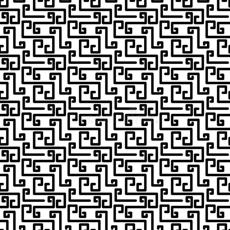 残破的希腊关键纹理无缝的样式 向量例证