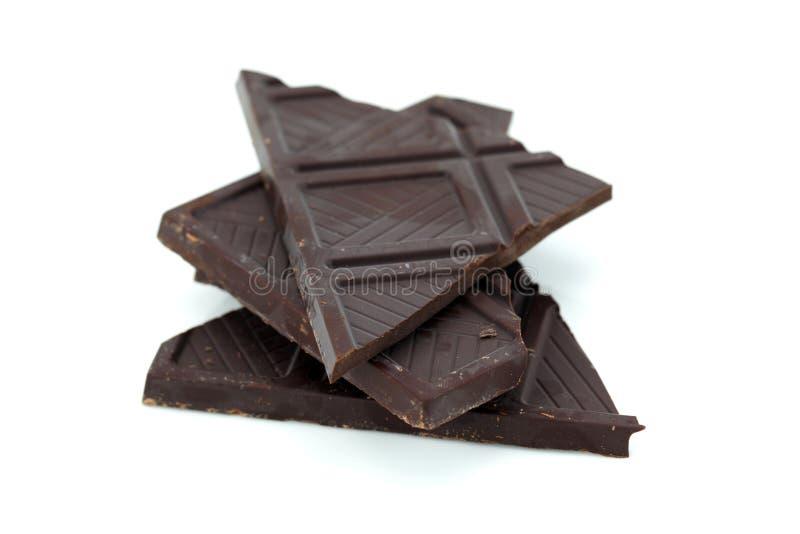 残破的恶巧克力黑暗 免版税库存图片